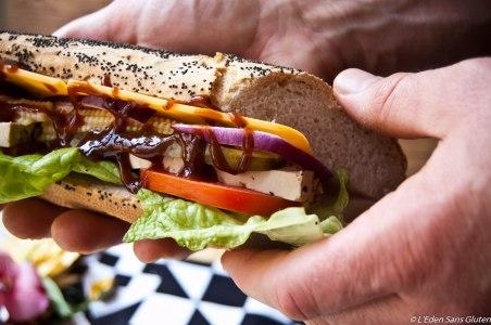 Sandwich végétal sans gluten